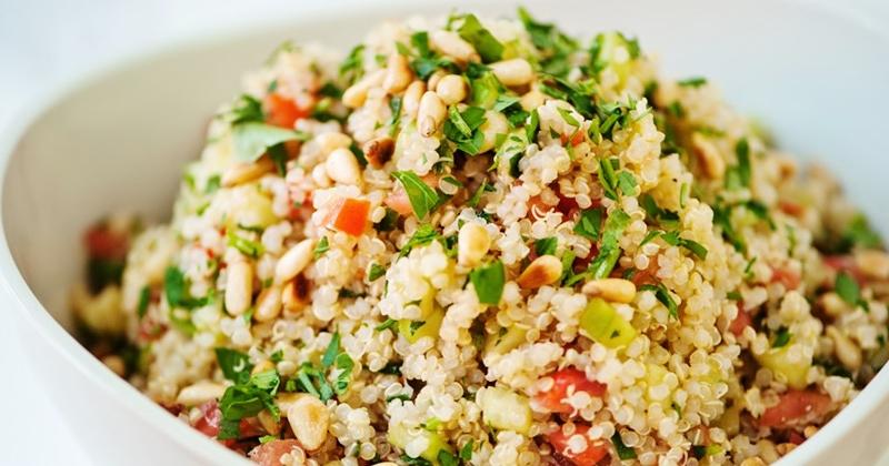 Quinoa con setas y verduras